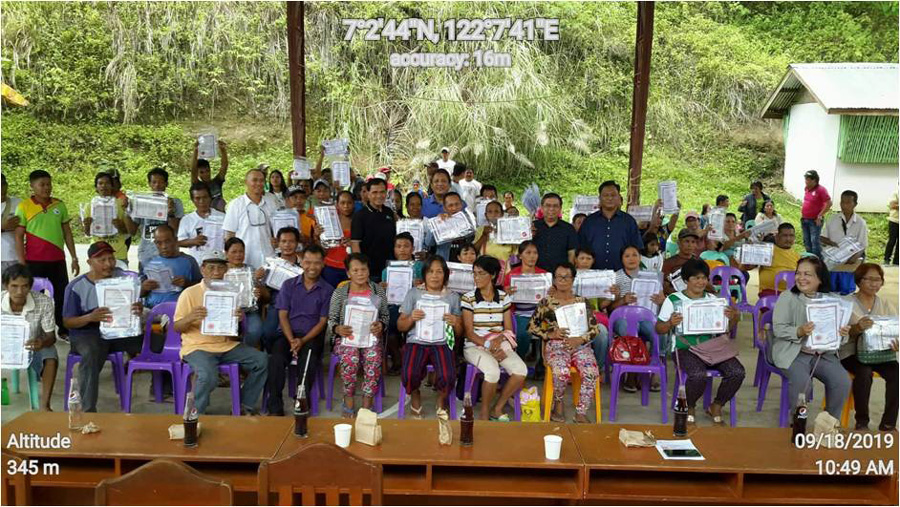 Zamboanga City beneficiaries receive land titles from DENR